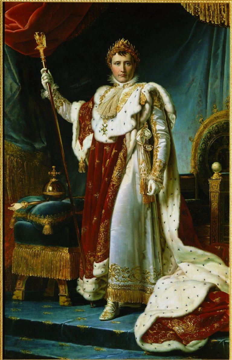 枫丹白露宫身着加冕服的拿破仑的肖像