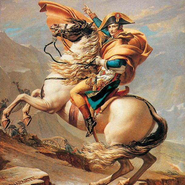 Affiche Bonaparte au Grand-Saint Bernard par Jacques Louis David